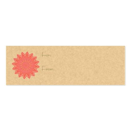 Pink Flower Kaleidoscope Business Card Templates