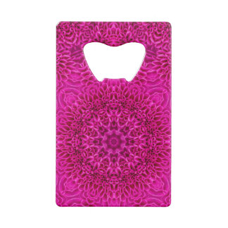 Pink Flower Kaleidoscope   Credit Card Openers