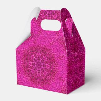 Pink Flower Kaleidoscope  Gable Favor Box