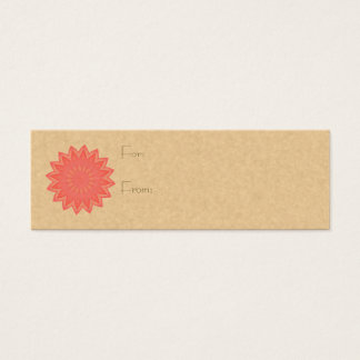 Pink Flower Kaleidoscope Mini Business Card