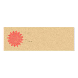 Pink Flower Kaleidoscope Pack Of Skinny Business Cards