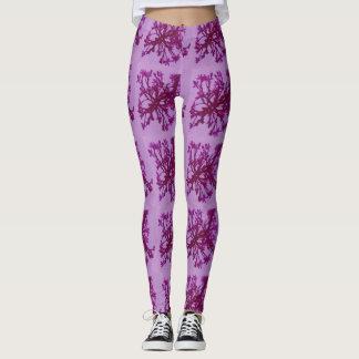 pink flower leggings
