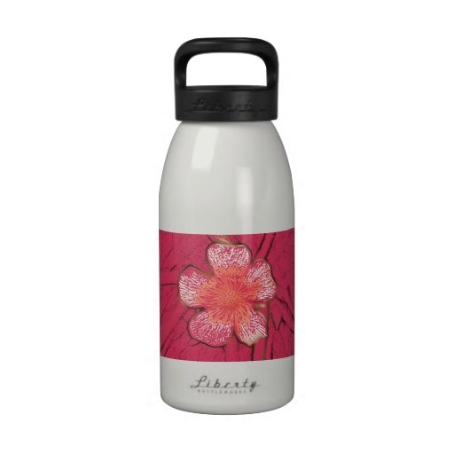 Pink Flower Liberty Water Bottle
