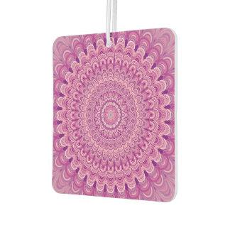 Pink flower mandala car air freshener
