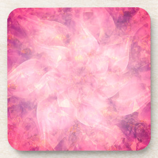 Pink Flower Mandala Coaster