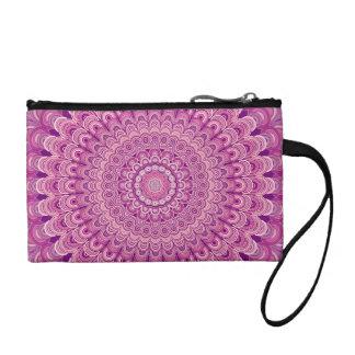 Pink flower mandala coin purse