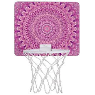 Pink flower mandala mini basketball hoop