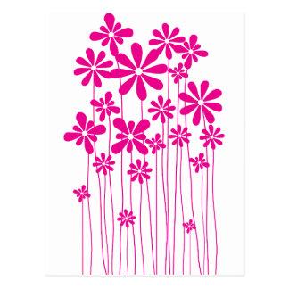 Pink Flower Meadow Postcard