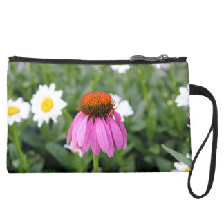 Pink Flower Mini Clutch