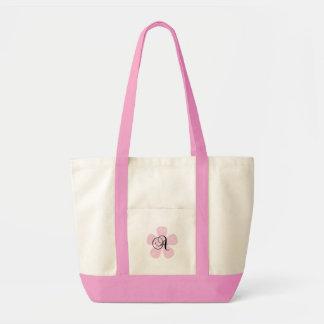 Pink Flower Monogram A