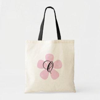 Pink Flower Monogram O