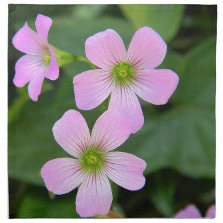 pink-flower napkin