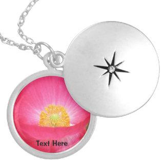 Pink Flower Locket