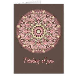 Pink Flower of Love - Mandala Card