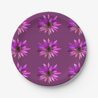 Pink Flower Paper Plate 7 Inch Paper Plate