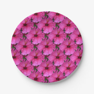 Pink Flower  Party Supplies 7 Inch Paper Plate