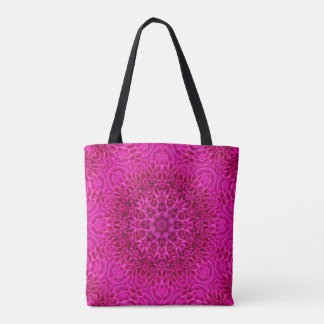 Pink Flower Pattern All-Over-Print Tote Bag