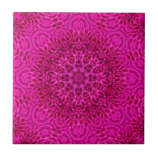 Pink Flower Pattern   Ceramic Tiles, 2 sizes Ceramic Tile