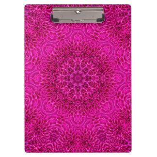 Pink Flower Pattern Clipboard