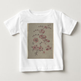 Pink Flower Pattern - French Baby T-Shirt