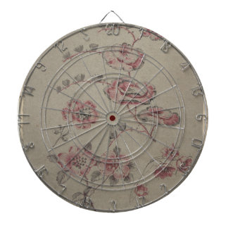 Pink Flower Pattern - French Dartboard