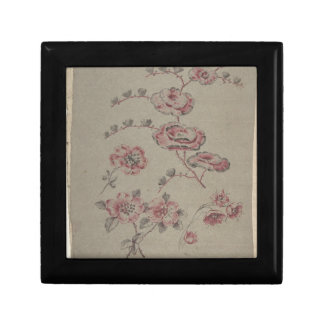 Pink Flower Pattern - French Gift Box