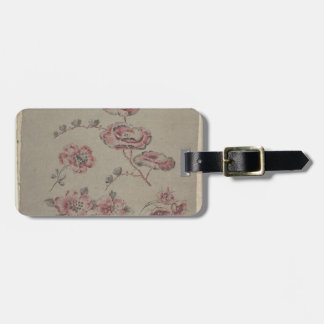 Pink Flower Pattern - French Luggage Tag