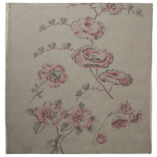 Pink Flower Pattern - French Napkin