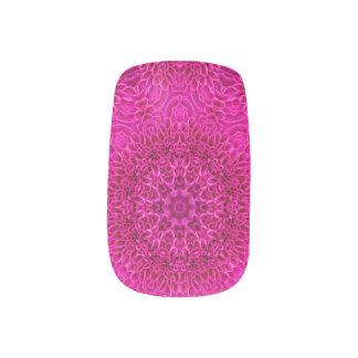 Pink Flower Pattern  Minx Nail Art