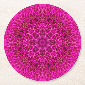 Pink Flower Pattern  Pulp board Coasters, 2 shapes Round Paper Coaster