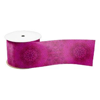 """Pink Flower Pattern    Ribbon, 3"""" or 1.5"""" Satin Ribbon"""