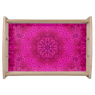 Pink Flower Pattern Serving Trays, 2 sizes Serving Tray