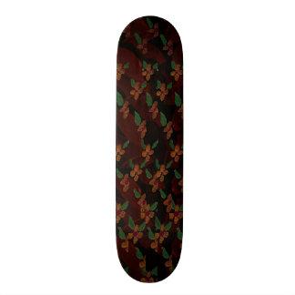 Pink Flower Pattern Skateboard Decks