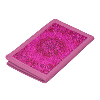 Pink Flower Pattern Vintage Kaleidoscope Wallet