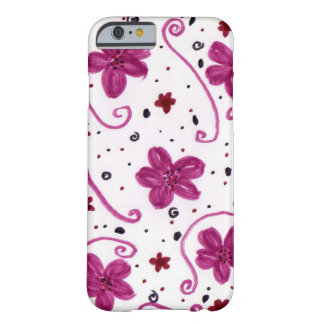 Pink flower patterned barely there iPhone 6 case