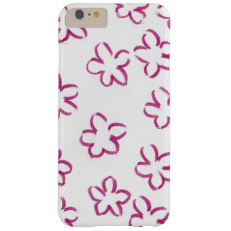 Pink flower patterned barely there iPhone 6 plus case