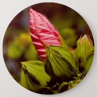 Pink Flower Photo Badge