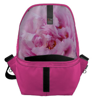 Pink Flower Pink Large Messenger Bag