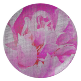 Pink Flower Plates