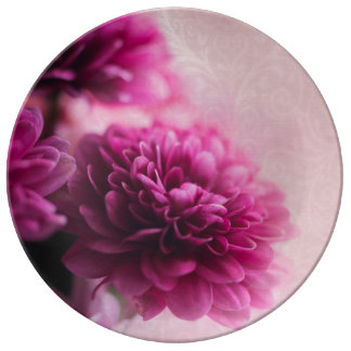 Pink Flower Plate Porcelain Plates
