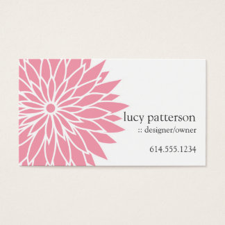 Pink Flower Power Chic Stylish Business Cards