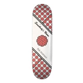 Pink Flower Ribbon Skate Decks