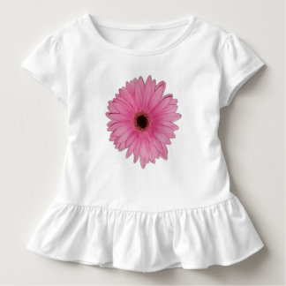 Pink Flower Ruffle T-shirt