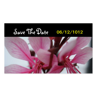 Pink Flower Save The Date Wedding Card Business Card Template