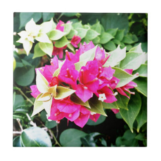 Pink Flower Small Square Tile