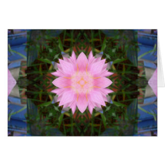 Pink Flower Starburst Card