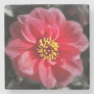 Pink Flower Stone Beverage Coaster