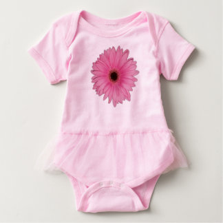 Pink Flower Tutu Baby Bodysuit