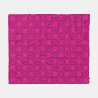 Pink Flower Two  Kaleidoscope Fleece Blankets
