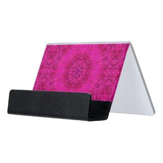 Pink Flower Vintage Desk Business Card Holder